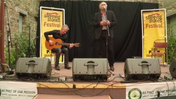 Paul and Ron on stage at Stepping Stones Festival 1